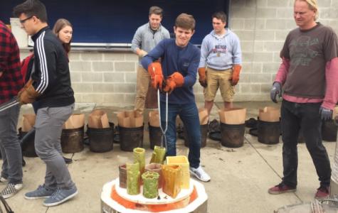 Ceramics students experiment with Raku firing