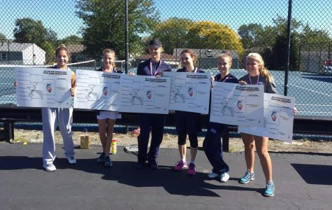 Girls' tennis team takes 13th consecutive conference title