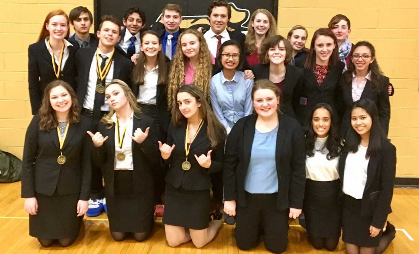 The 2016 - 2017 Speech team. (Photo courtesy of Mr. Lazzari)