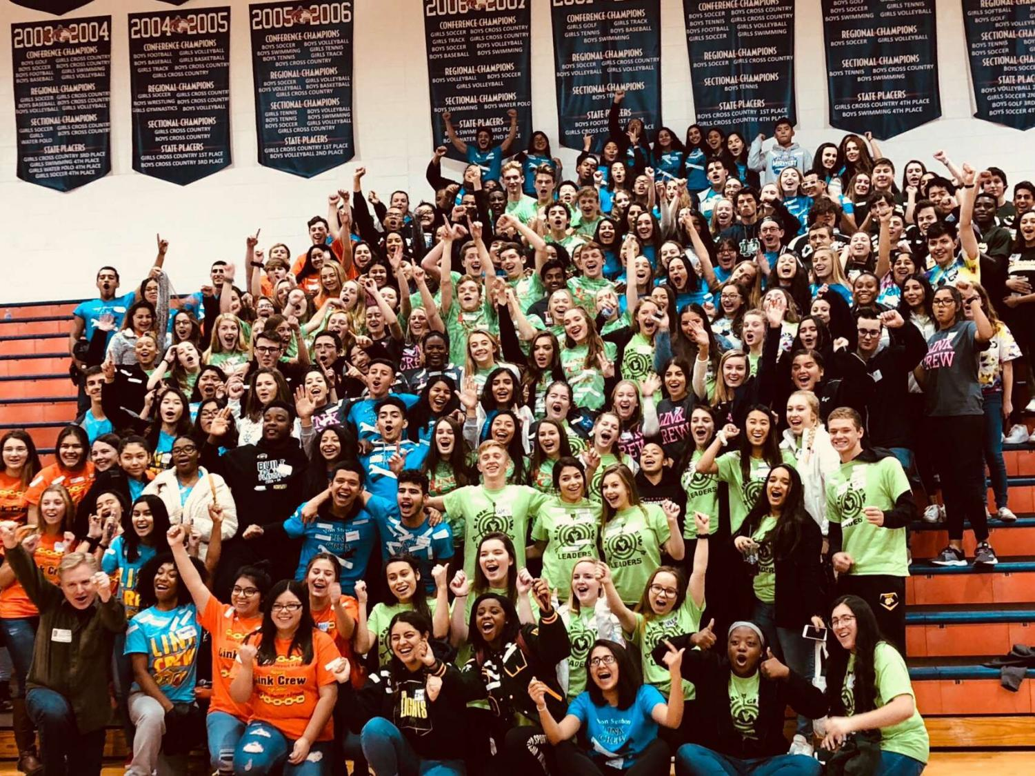 Link Crew conference at Naperville North High School on October 30th, where link crew leaders from surrounding schools came together to discuss ways of improving the program. Photo courtesy of Jeana Parry.