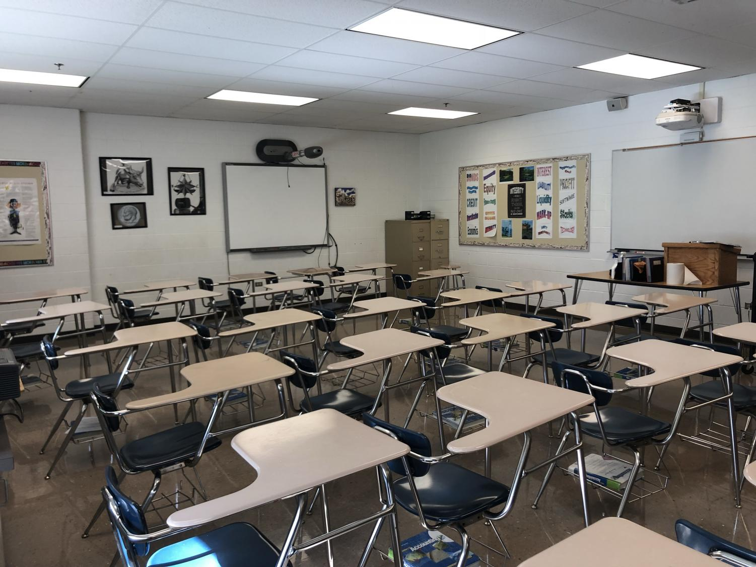 This is Mr. Hollatz's classroom, where Technology Concepts will be taught.
