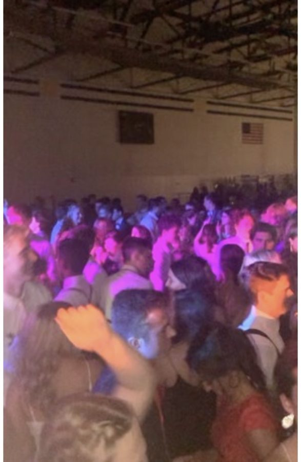 Students dancing to the DJ's music on Homecoming night.