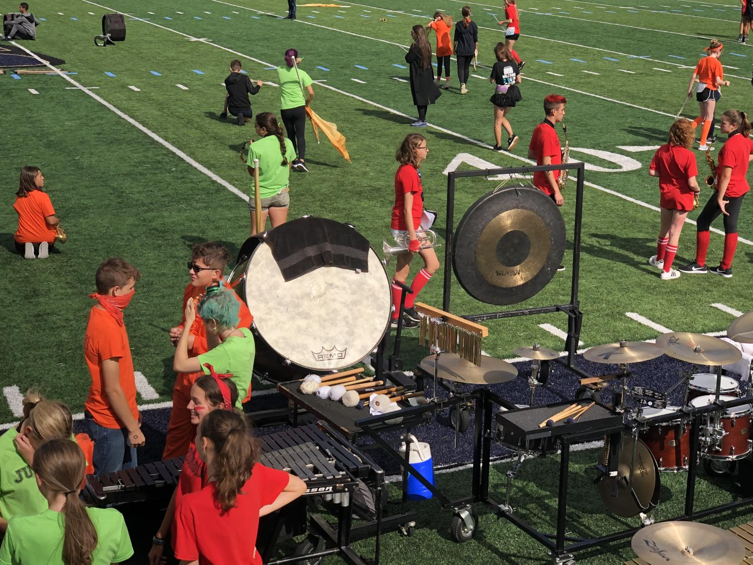 The homecoming football game marks the end of spirit week each year. Student Council members organize and set up many of the events and features that make it such a special day, including the halftime shows and band performances.
