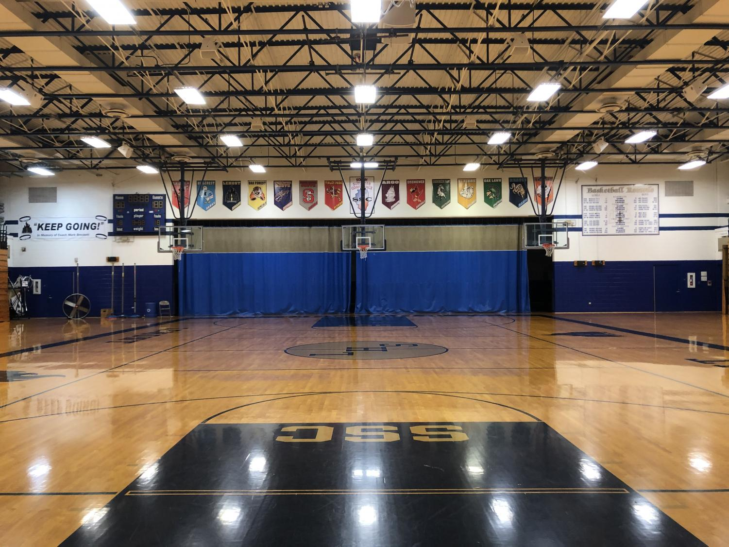 The renovation of the gym will change its entire appearance and structure. From the new flooring to the new walls, the gym will provide a better atmosphere for athletic programs and gym usage.