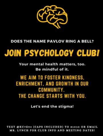 The newly created flyer for the psychology club to hopefully encourage more students to join.