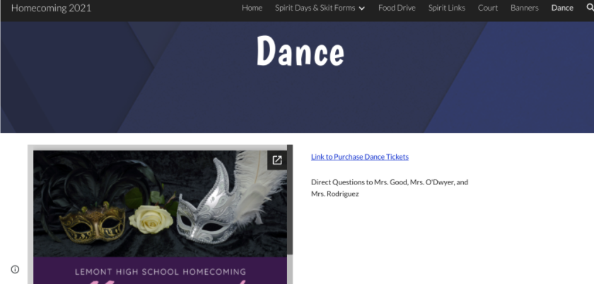 Mrs. Duensing spices up homecoming with a new website
