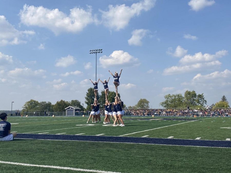 Performance+by+the+junior+varsity+cheerleading+team.
